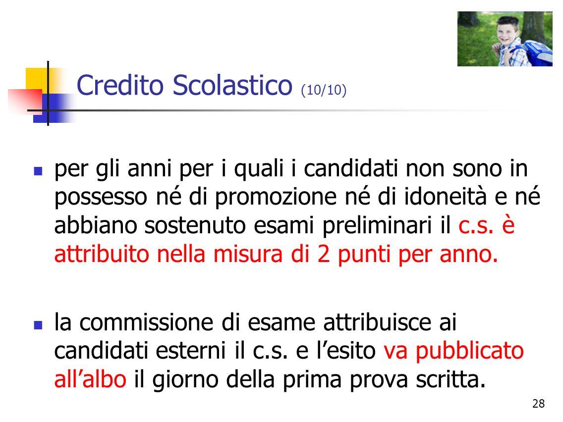 Credito Scolastico (10/10)