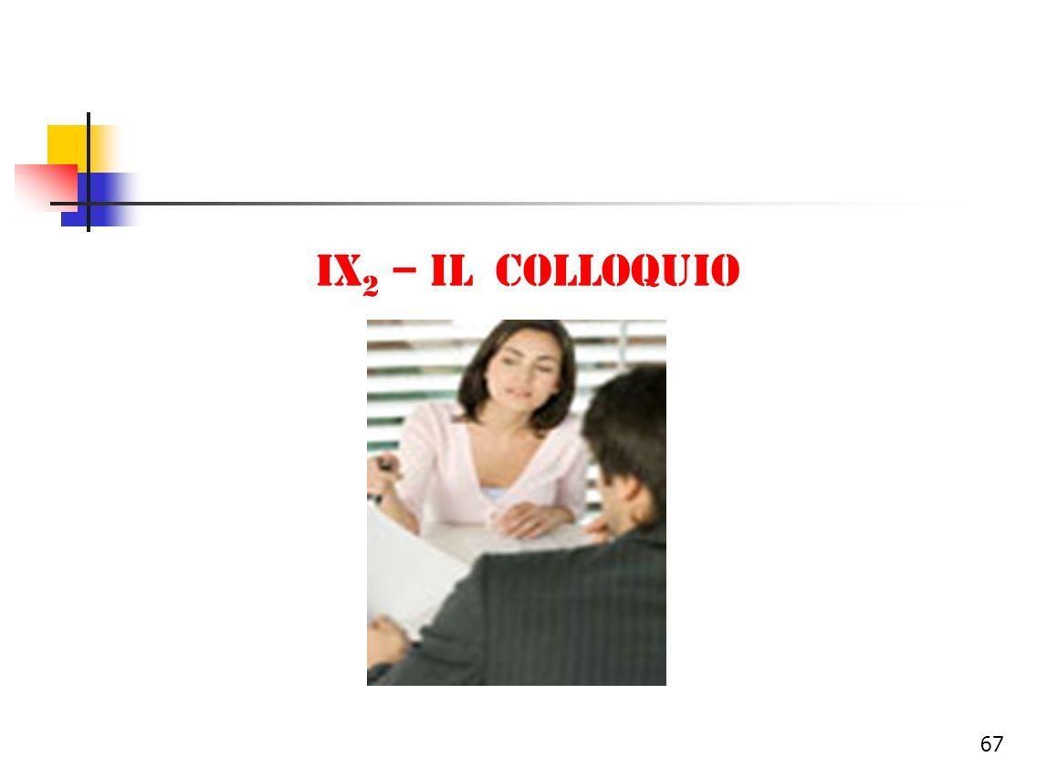 IX2 – il colloquio