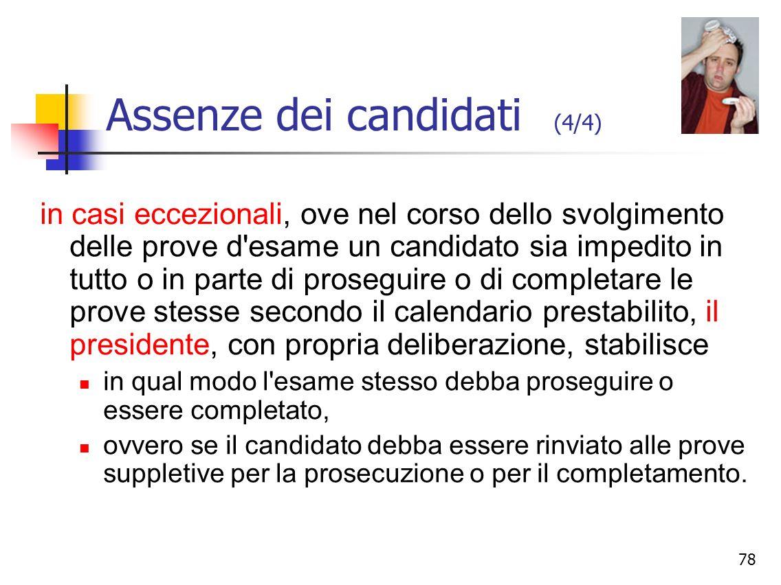Assenze dei candidati (4/4)