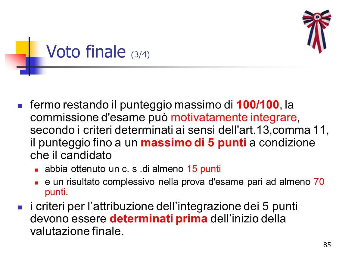 Voto finale (3/4)