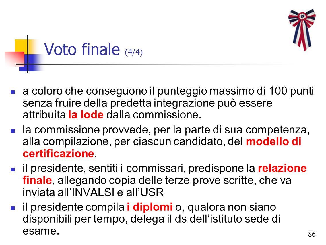 Voto finale (4/4)