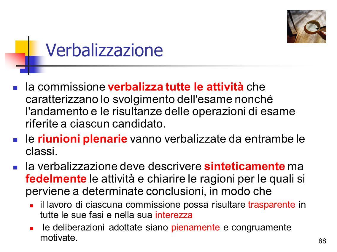 Verbalizzazione