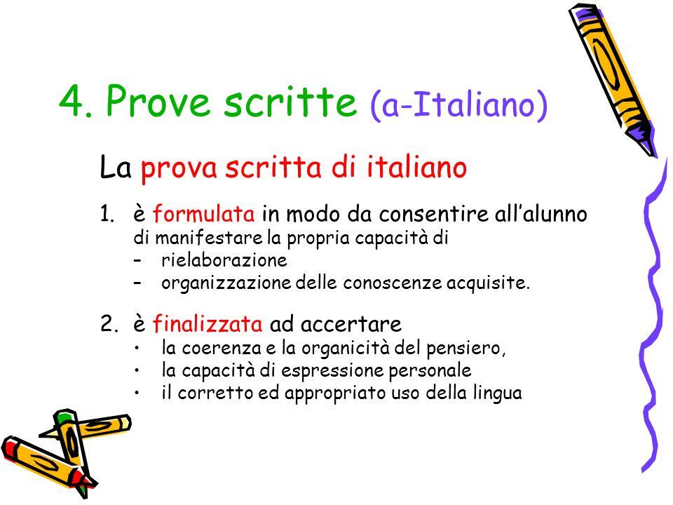 4. Prove scritte (a-Italiano)