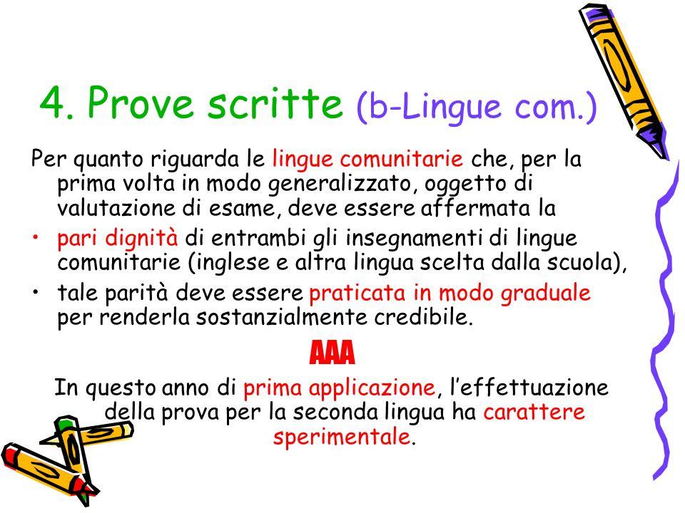 4. Prove scritte (b-Lingue com.)