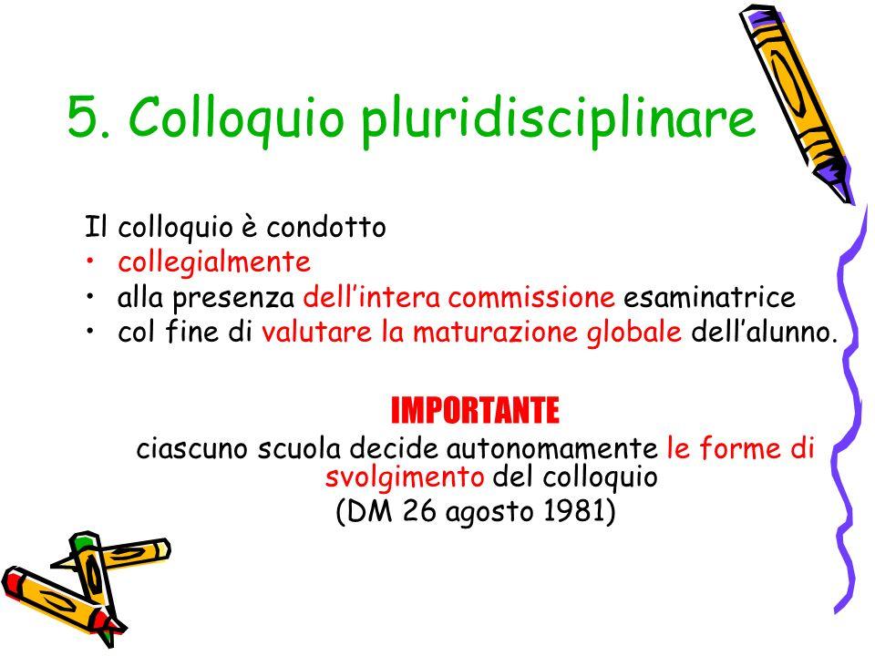 5. Colloquio pluridisciplinare