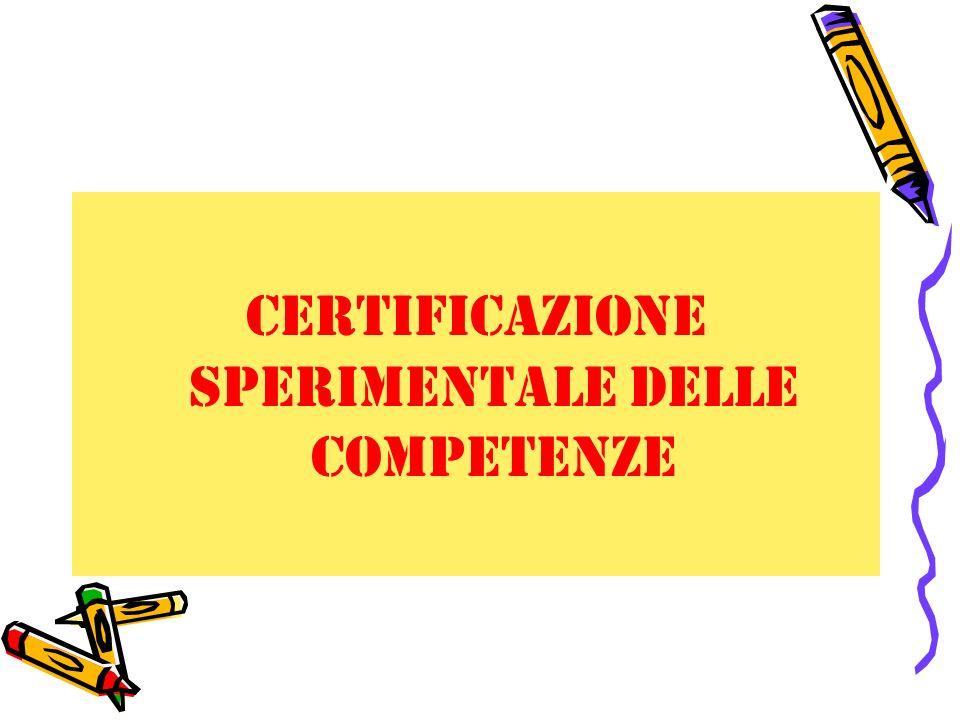 certificazione sperimentale delle competenze