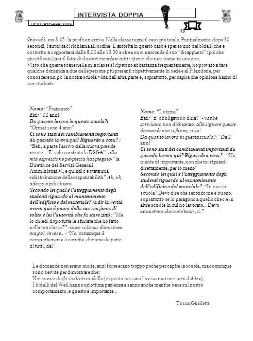 INTERVISTA DOPPIA UCALIPTO-FEB.2009. 10.