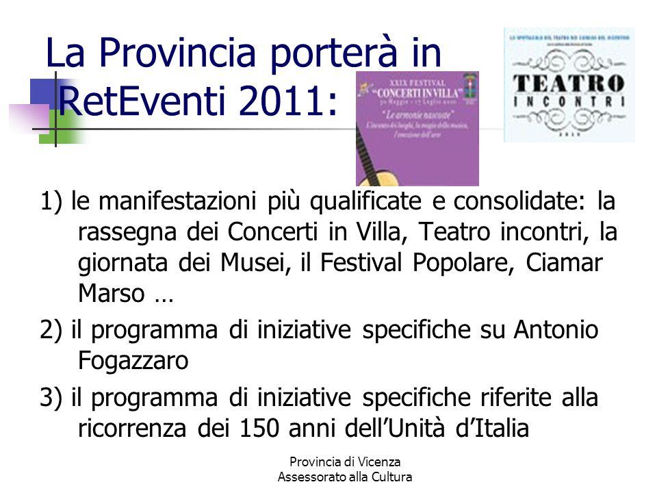 La Provincia porterà in RetEventi 2011: