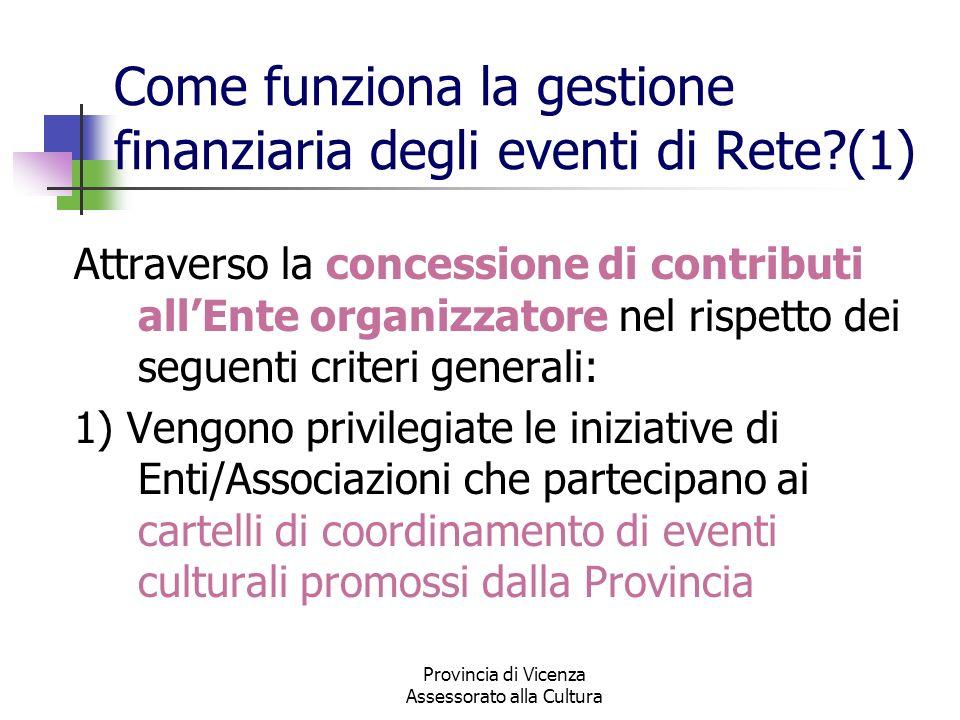 Come funziona la gestione finanziaria degli eventi di Rete (1)