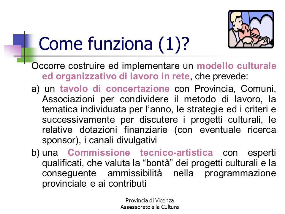 Provincia di Vicenza Assessorato alla Cultura