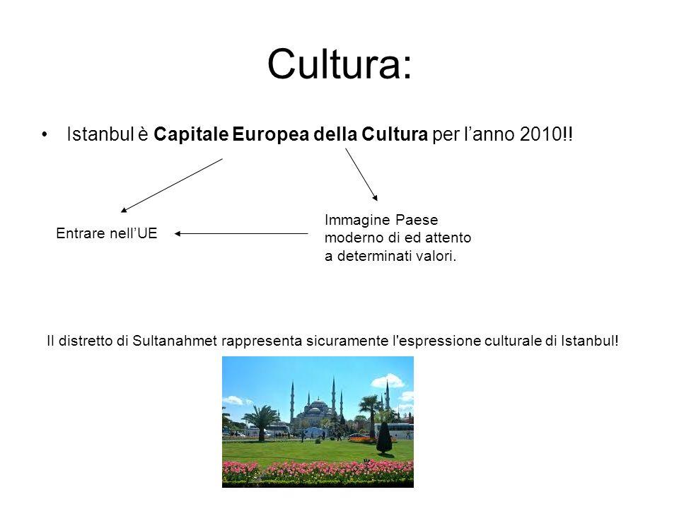 Cultura: Istanbul è Capitale Europea della Cultura per l'anno 2010!!