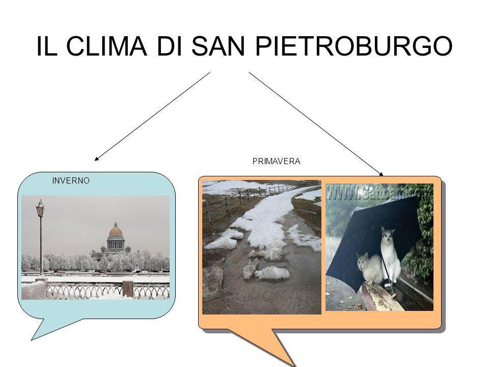 IL CLIMA DI SAN PIETROBURGO