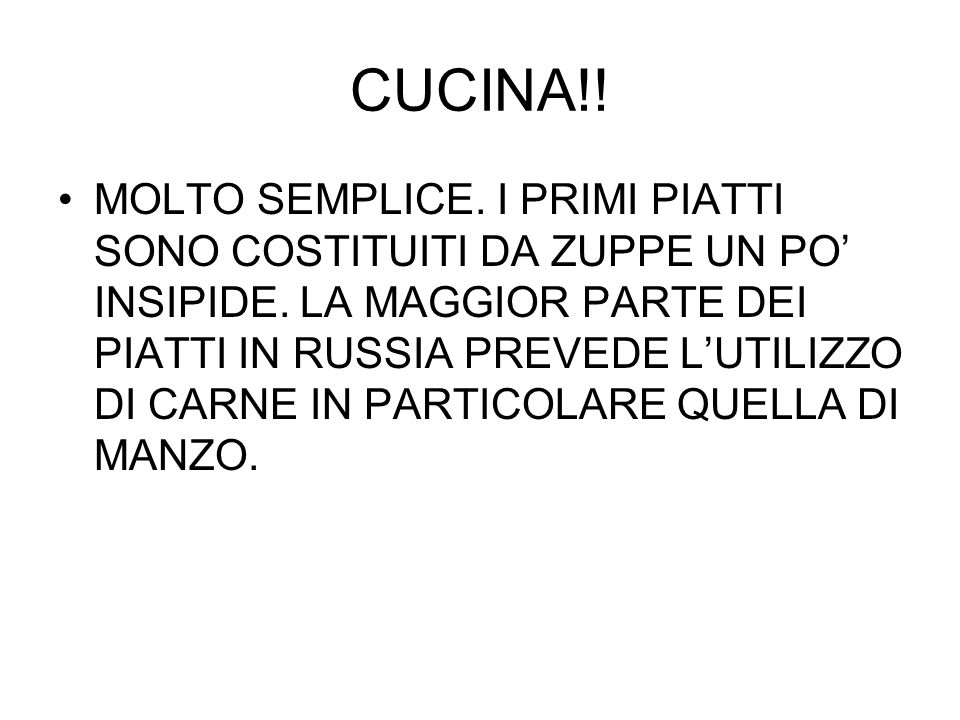 CUCINA!!
