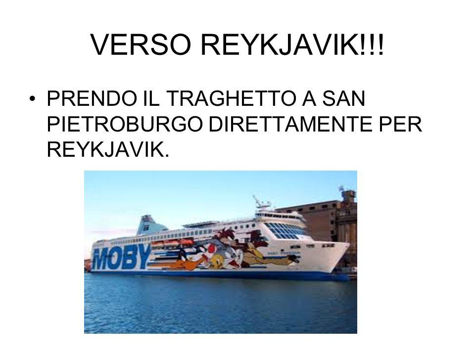 VERSO REYKJAVIK!!! PRENDO IL TRAGHETTO A SAN PIETROBURGO DIRETTAMENTE PER REYKJAVIK.