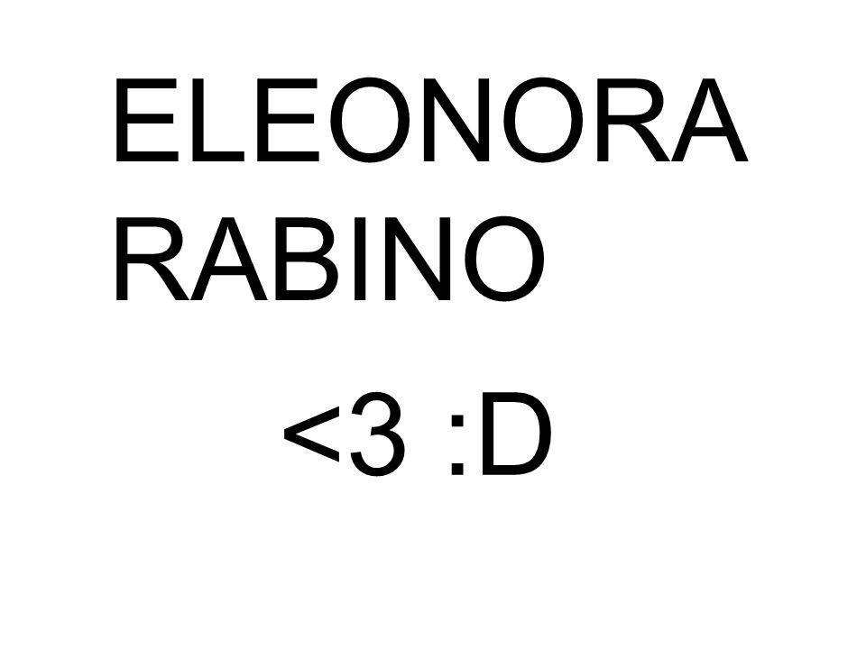 ELEONORA RABINO <3 :D