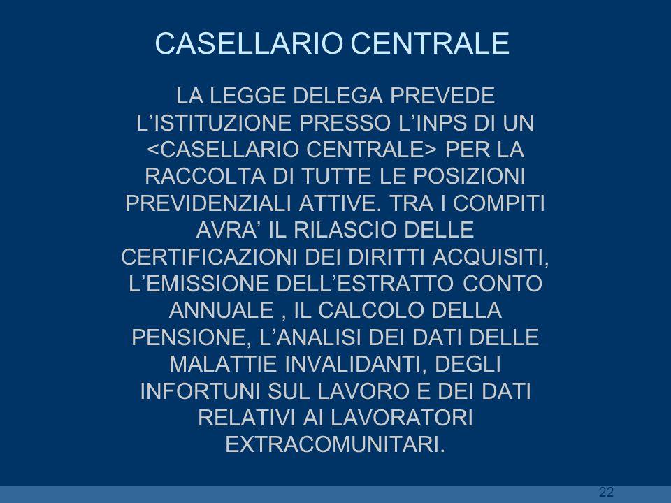CASELLARIO CENTRALE