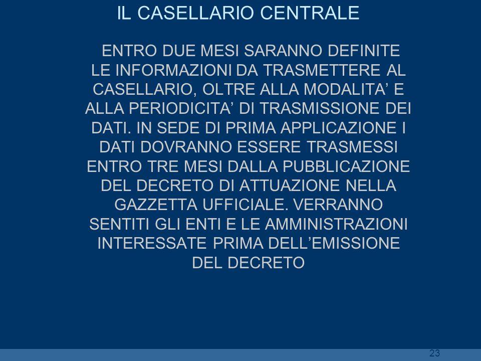 IL CASELLARIO CENTRALE