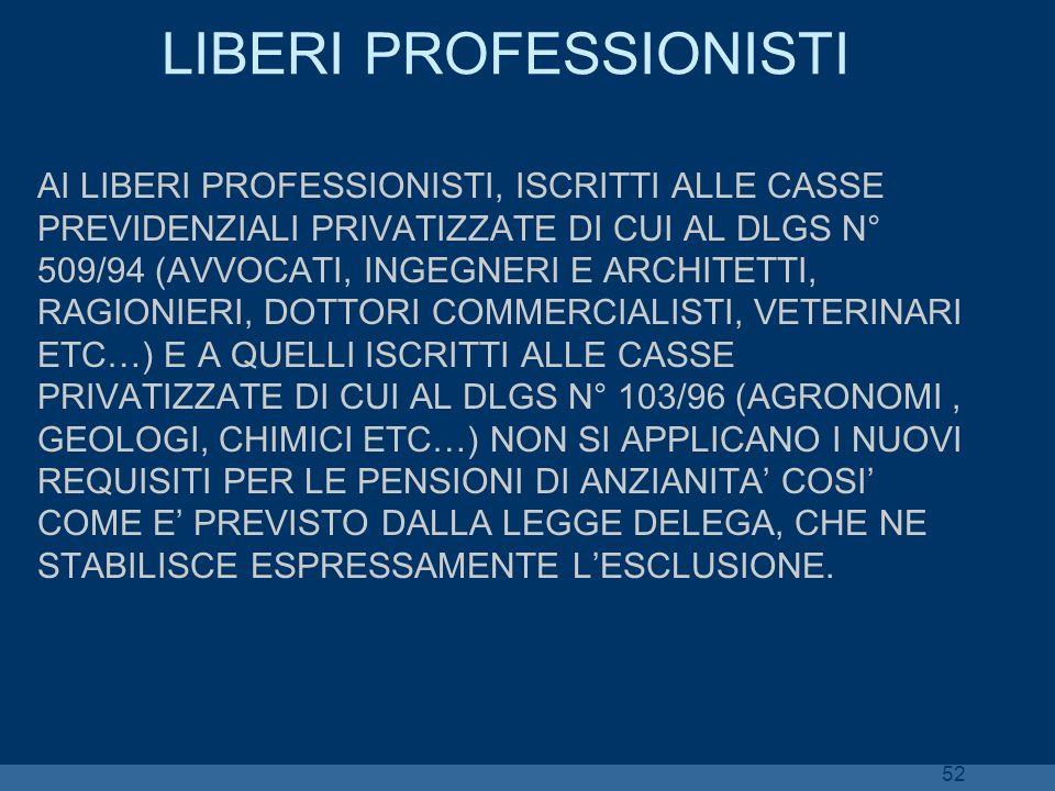 LIBERI PROFESSIONISTI