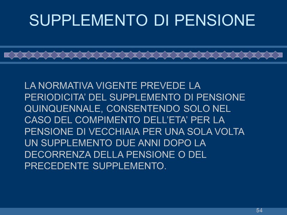 SUPPLEMENTO DI PENSIONE