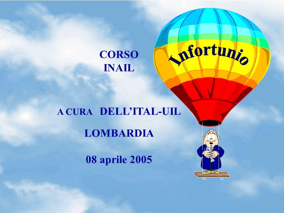 CORSO INAIL A CURA DELL'ITAL-UIL LOMBARDIA 08 aprile 2005 Infortunio