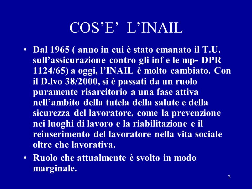 COS'E' L'INAIL