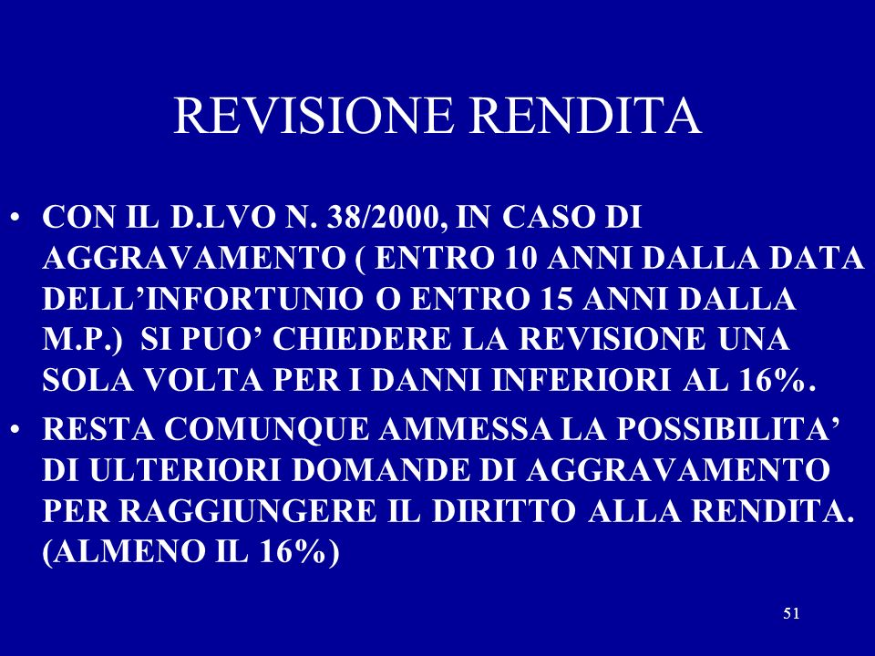 REVISIONE RENDITA