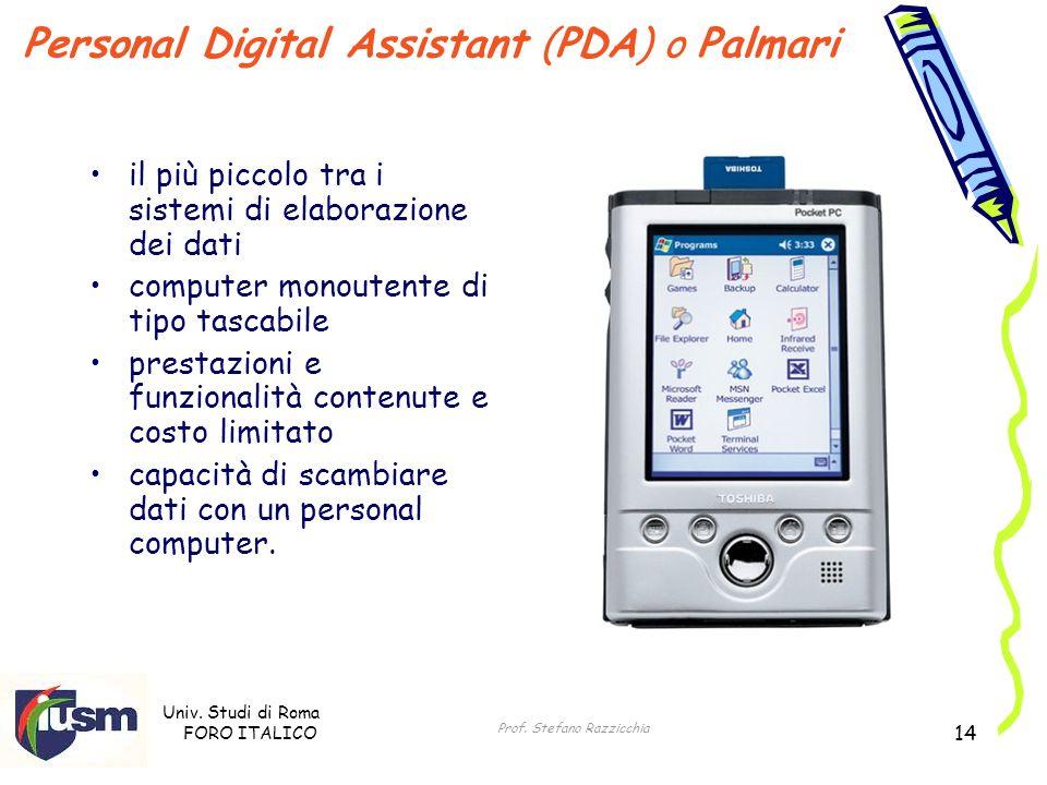 Personal Digital Assistant (PDA) o Palmari