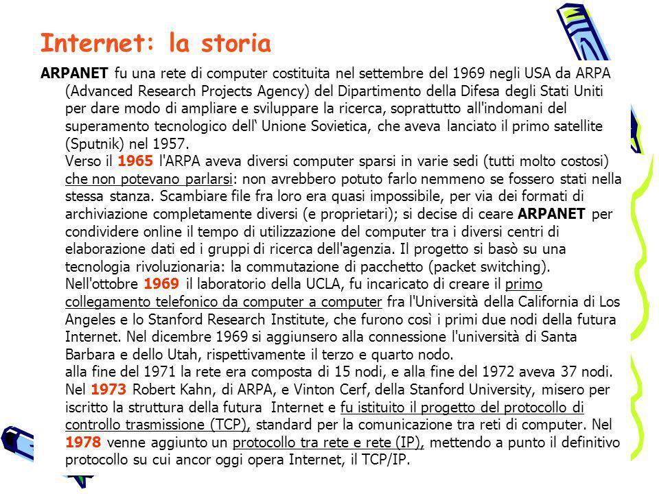 Internet: la storia