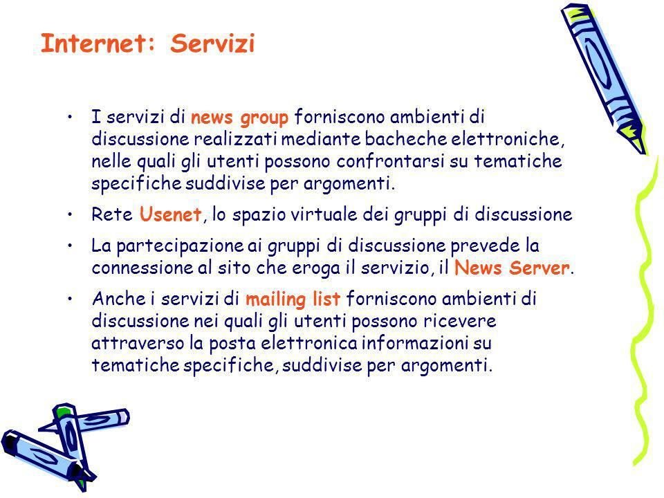 Internet: Servizi