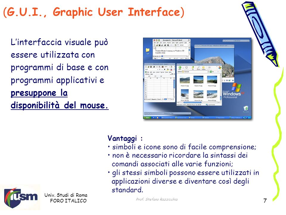 (G.U.I., Graphic User Interface)