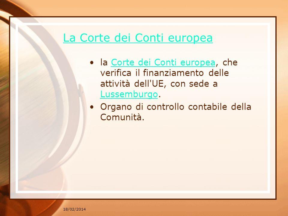 La Corte dei Conti europea