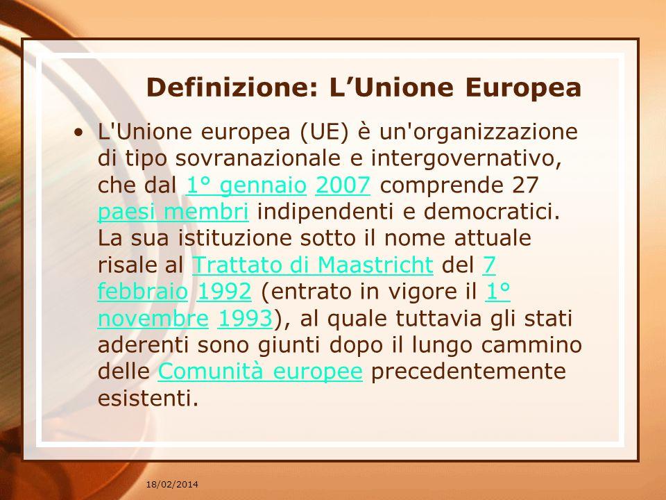 Definizione: L'Unione Europea