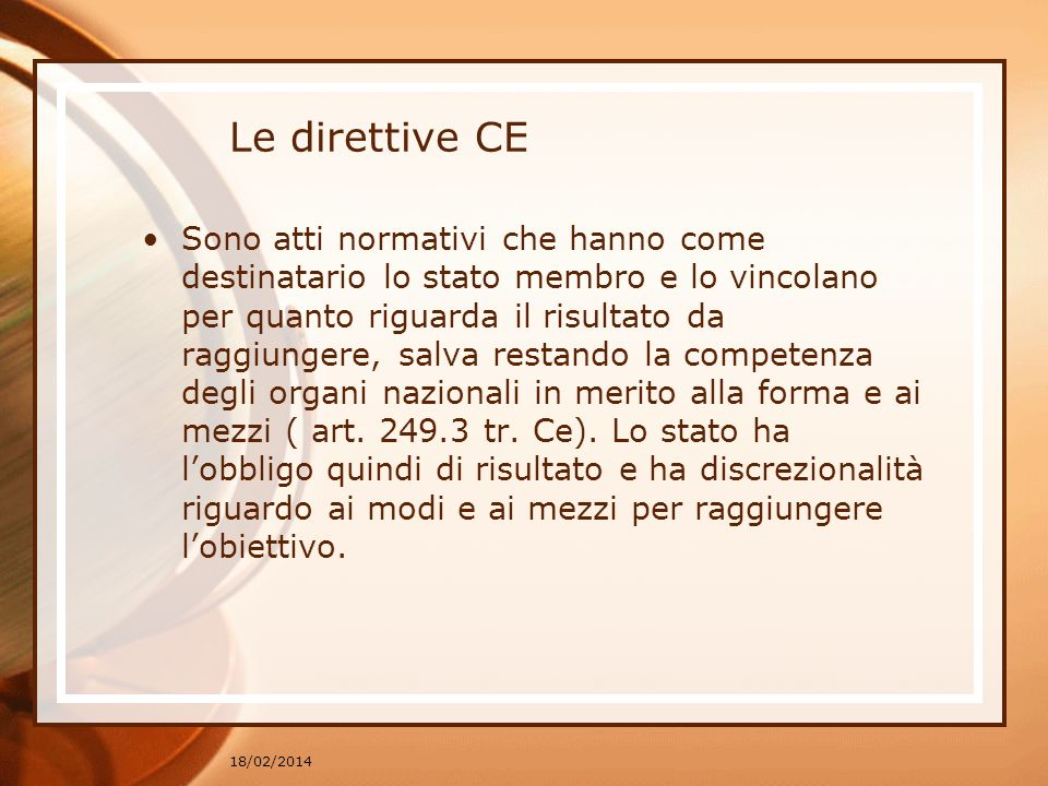Le direttive CE