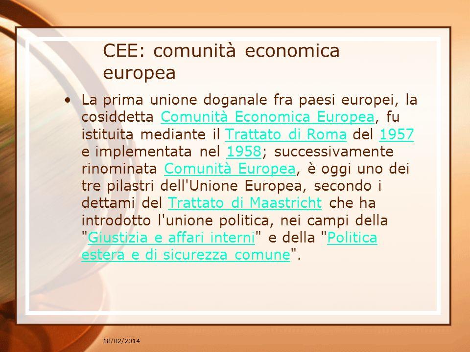 CEE: comunità economica europea