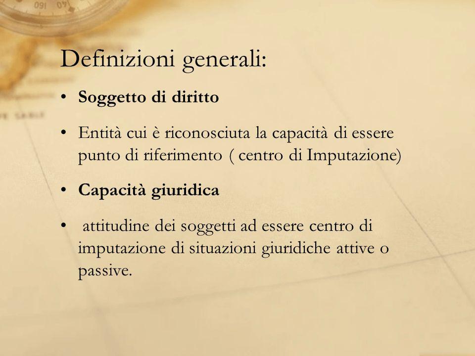 Definizioni generali: