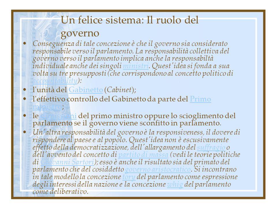 Un felice sistema: Il ruolo del governo