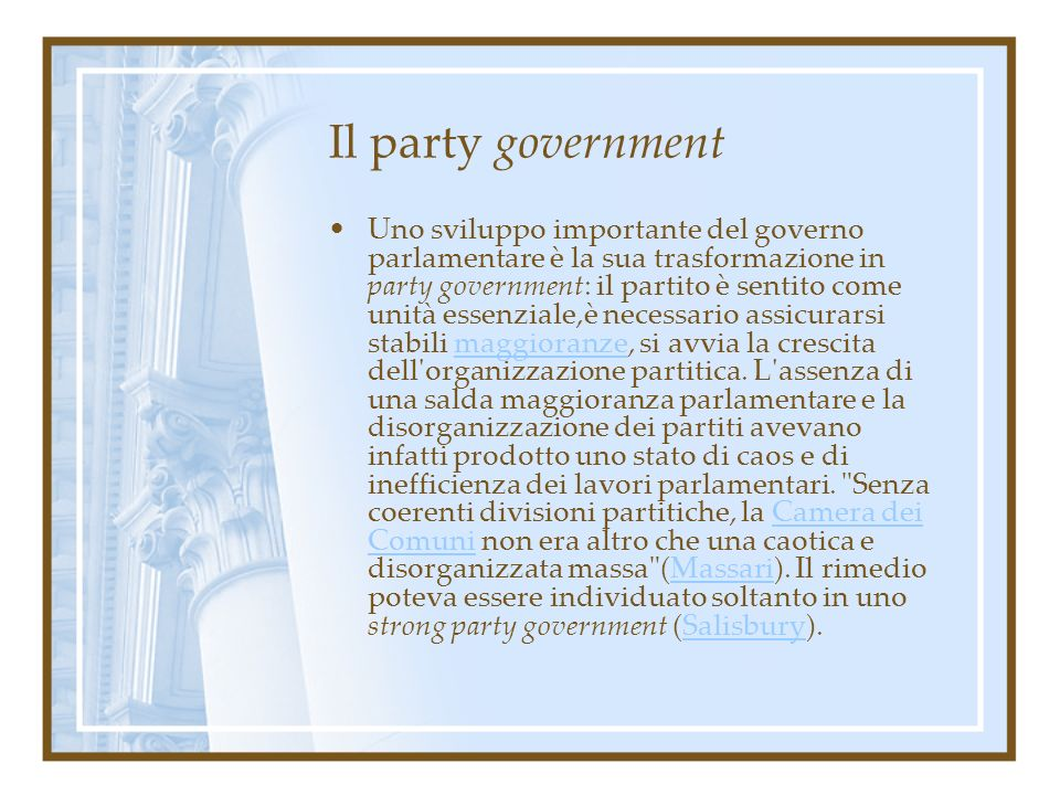 Il party government