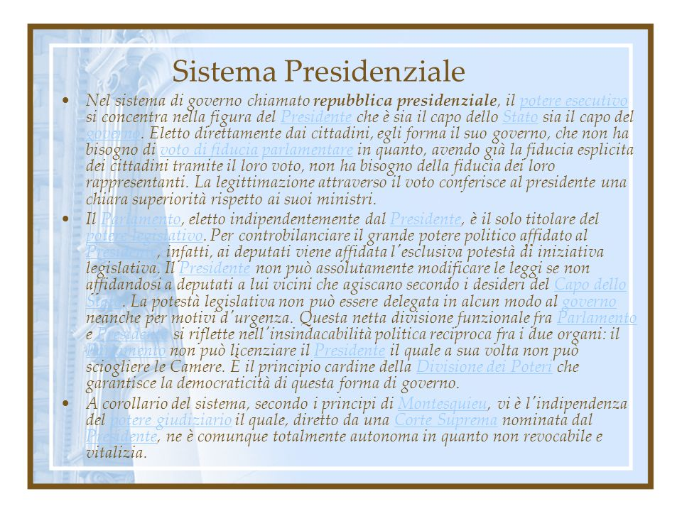 Sistema Presidenziale