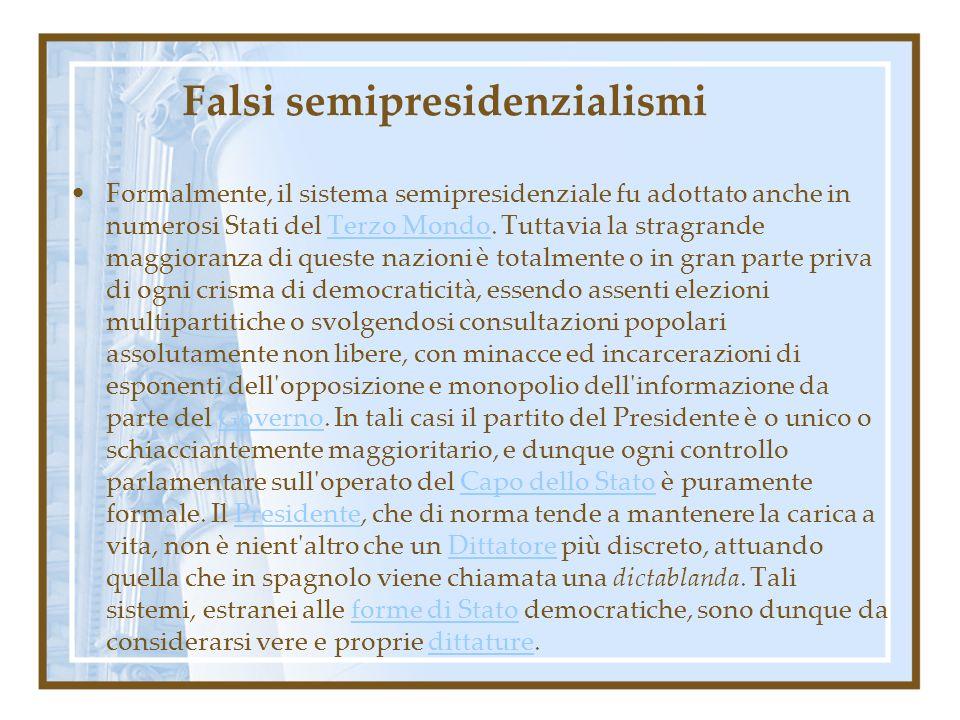 Falsi semipresidenzialismi
