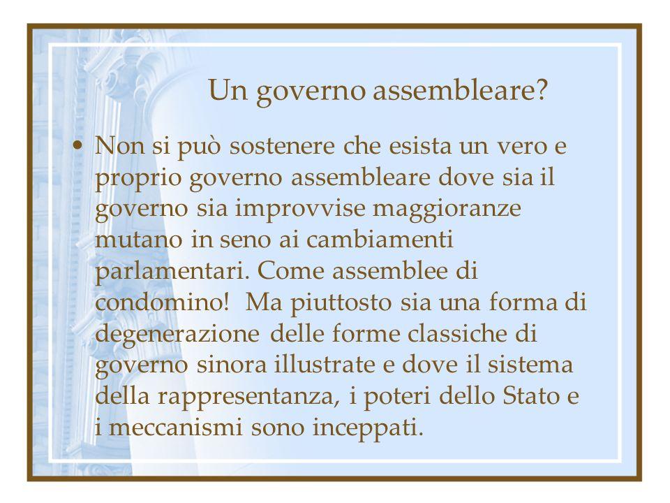 Un governo assembleare