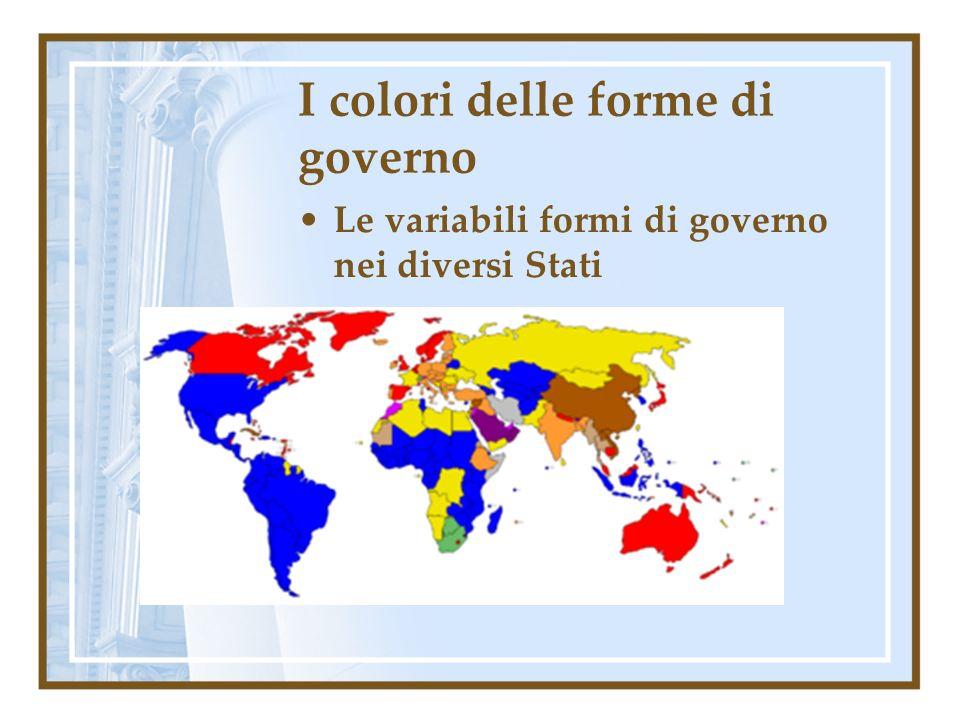 I colori delle forme di governo