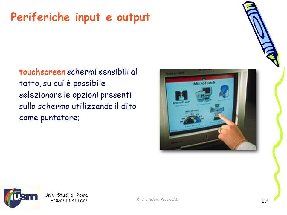 Periferiche input e output