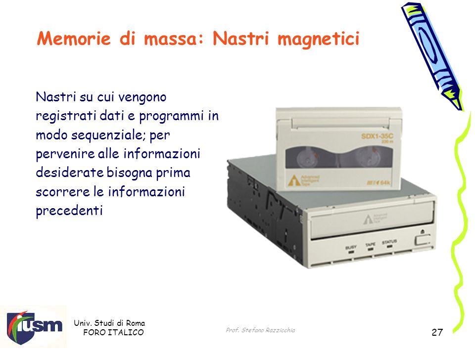 Memorie di massa: Nastri magnetici