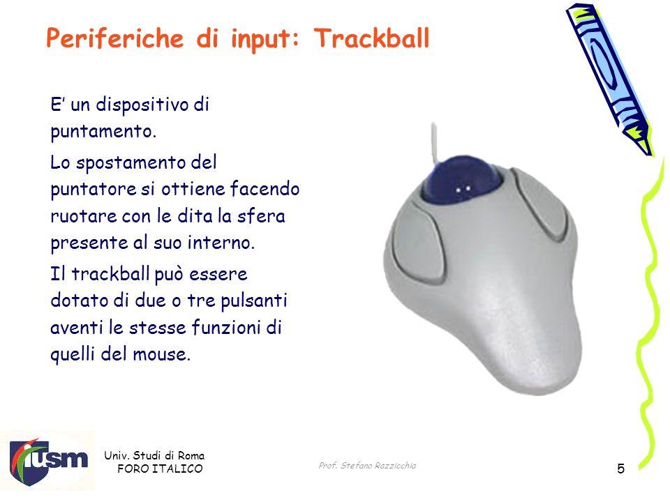 Periferiche di input: Trackball