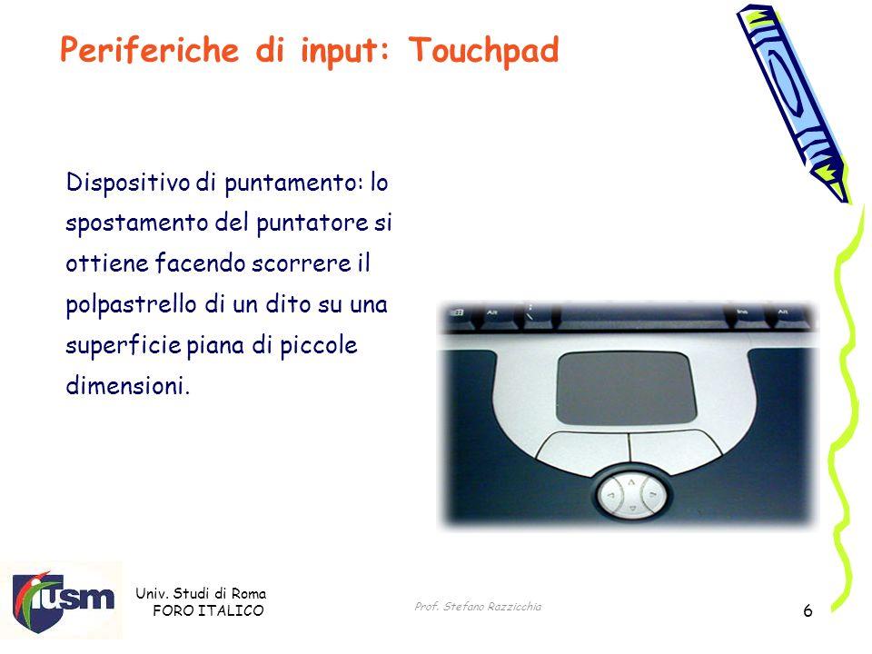 Periferiche di input: Touchpad