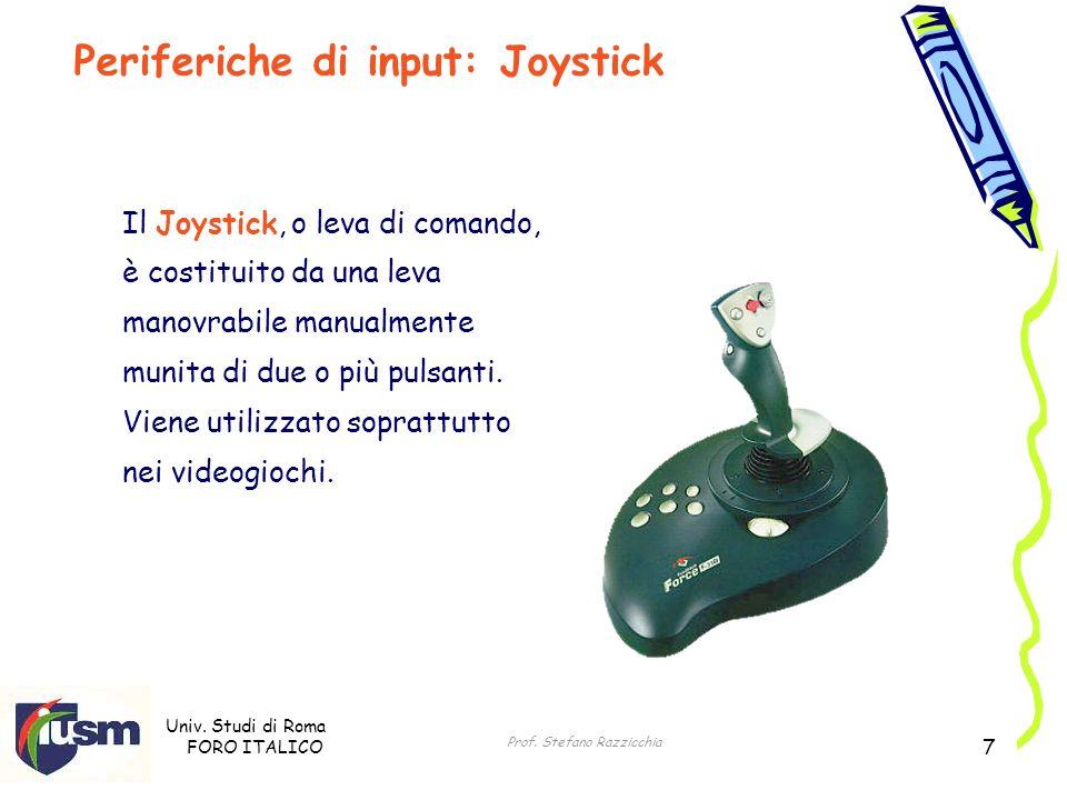 Periferiche di input: Joystick