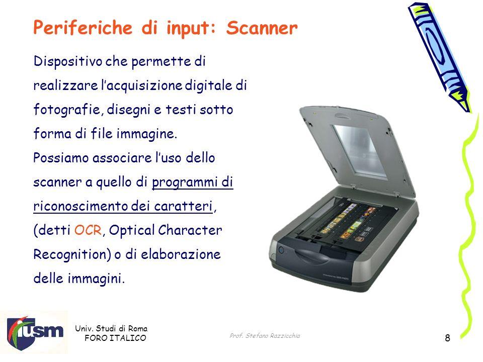 Periferiche di input: Scanner