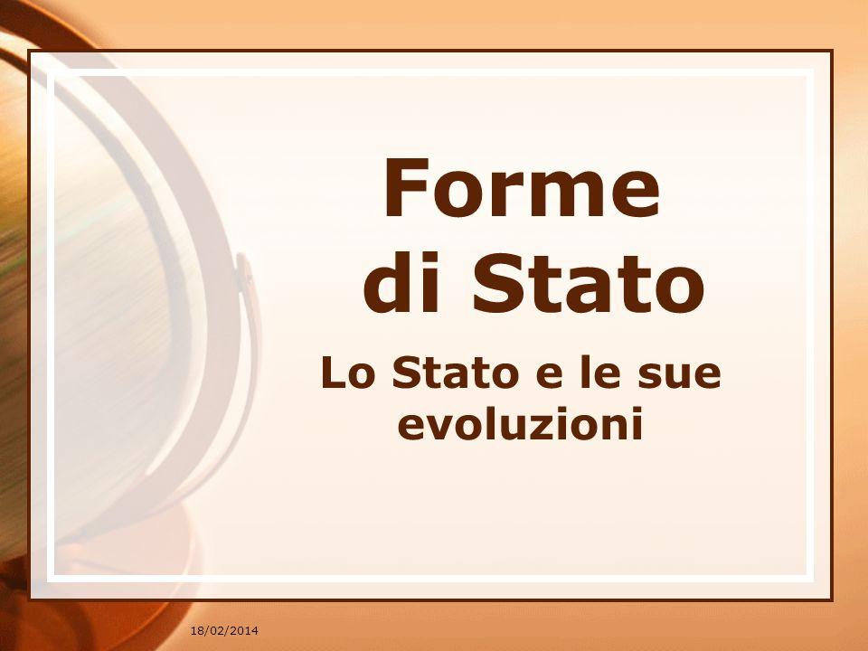 * Lo Stato e le sue evoluzioni