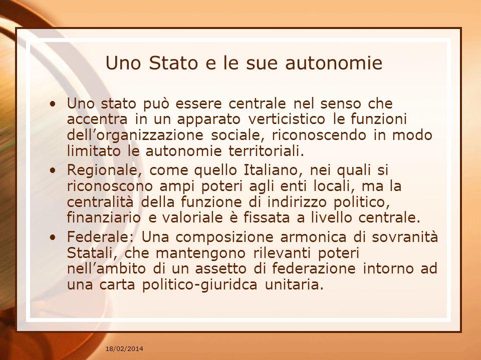 Uno Stato e le sue autonomie