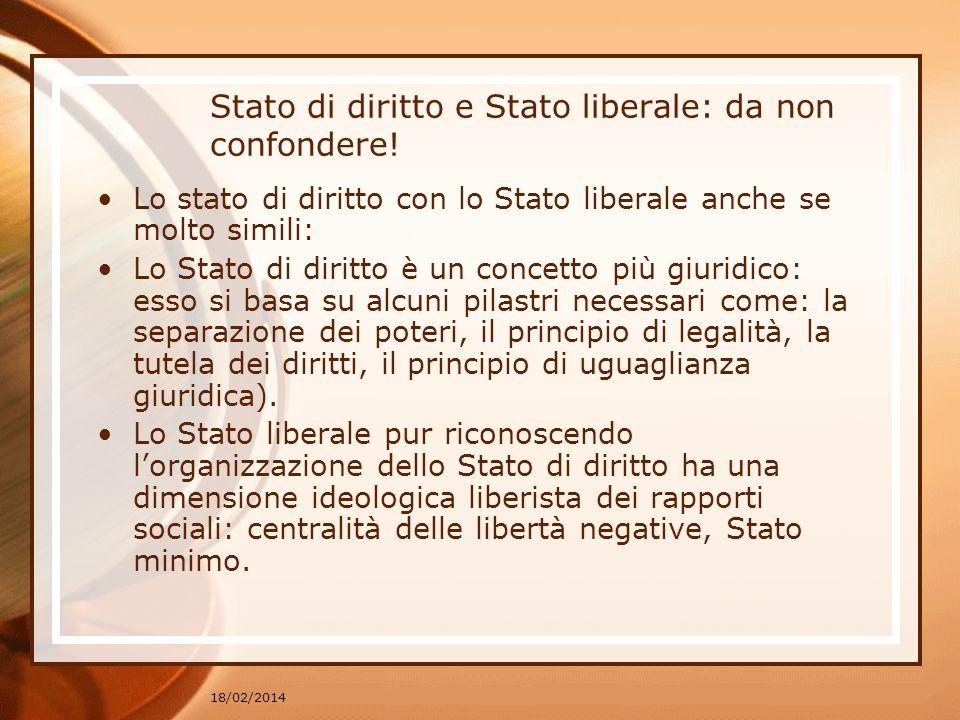 Stato di diritto e Stato liberale: da non confondere!